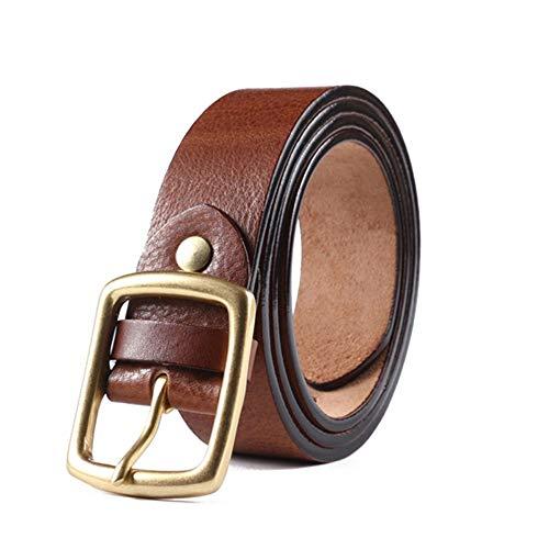 Honneury Herren Jugend Freizeit Jeans Anzug Hosengürtel, Premium Qualität (Farbe : Braun, Size : 105cm) - Premium-jugend-hosen