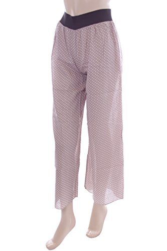 New Ladies Brown Polka Dot Palazzo Trousers. XS 6-8