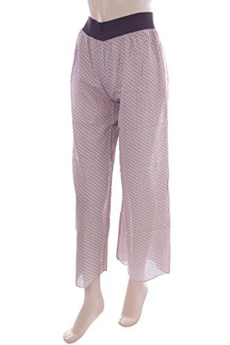 New Ladies Brown Polka Dot Palazzo Trousers. XS 6-8