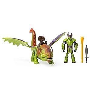 DreamWorks Dragones Eret y Skullcrusher, dragón con Vikingo en Armadura, para niños a Partir de 4 años, Multicolor, 6054790
