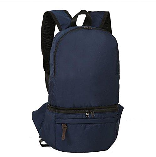 BUSL Großraum-outdoor-Touren Wandern Tasche falten wasserdichtes Nylon 28L Rucksack Tasche Blue