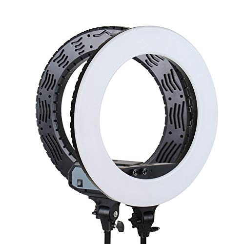 Peaceip Ring Light Kit 19in Kit d'éclairage externe 40w-5500k Dimmable LED pour vidéo YouTube et ruban de maquillage Support de lampe 2m - PTZ - Clip pour téléphone portable - Étui de transport
