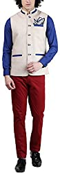 Skoosh Mens Jute Nehru Jacket (9995WT13AUGBE_L, Beige, Large)