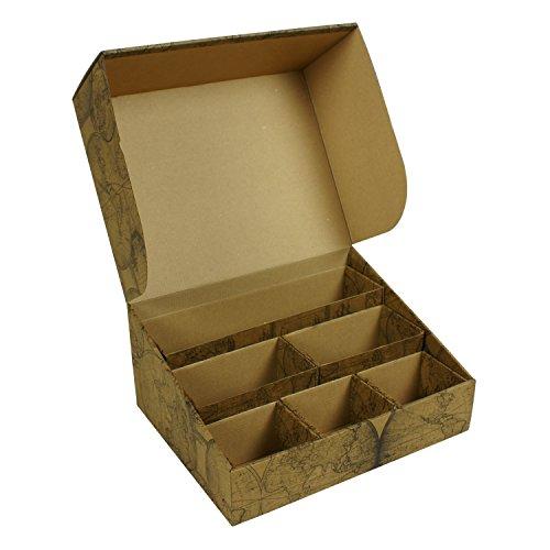 Deco Storage box, organizer, cofanetto, Bix, ufficio cartone Old Map, fiori Old map - Deco Storage Box