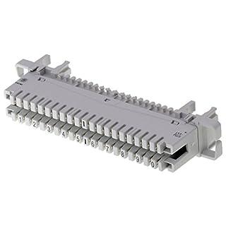 TE 6089 1 120-19 Profil Anschlussleiste 2/10 DA, (LSA-Plus 2)