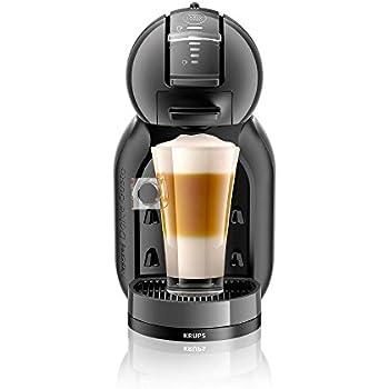 Krups KP1208 - Cafetera Nestlé Dolce Gusto Mini Me, automática, 15 bares de presión, Negra y gris