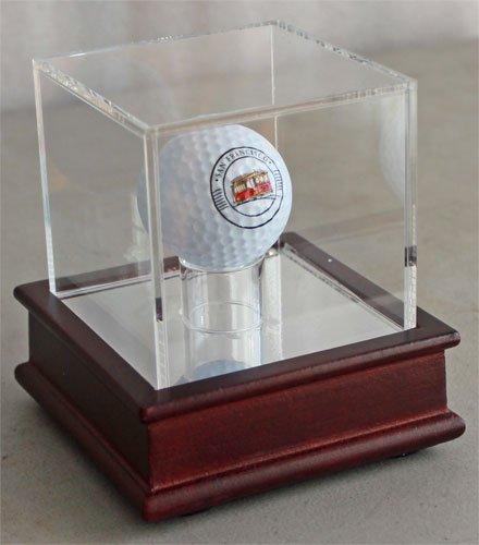 Display Fall für Eine Trick Oder Neuheit Golf Ball (Ball Nicht Enthalten), GB13, Cherry Stand - Golf-ball Vitrine