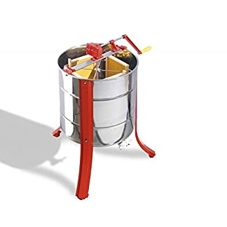 Lega Tangential Honey Extractor for 4 Honeycomb with Hand Drive 10