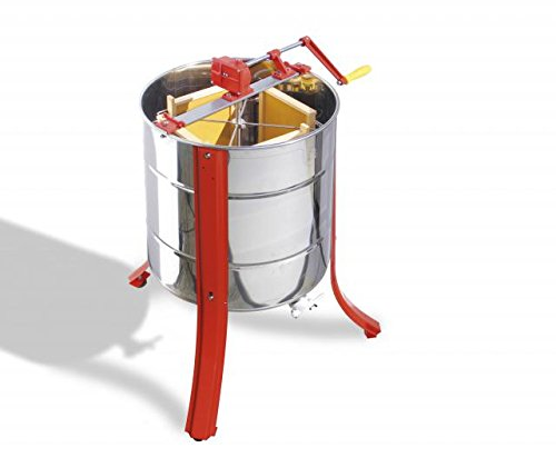 Lega Tangential Honey Extractor for 4 Honeycomb with Hand Drive 1
