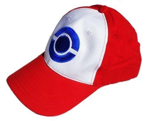 Ash Kostüm Ketchum - Pokemon Trainer Ash Ketchum Cap Mütze - Kostüm für Erwachsene & Kinder - perfekt für Fasching, Karneval & Cosplay - Damen Herren thematys