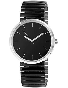 Excellanc Watch schwarze Damenuhr analoge Zugband Armbanduhr Quartz