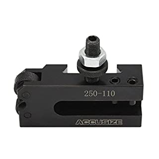 AccusizeTools - AXA Knurling Turning and Facing Holder Quick Change Tool Holder 1/2'', for Lathe Swing 6''-12'', 0250-0110