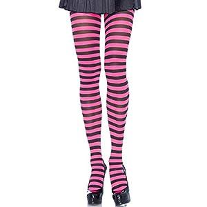 Leg Avenue- Mujer, Color negro y rosa neón, Talla Única (EUR 36-40) (710022043)