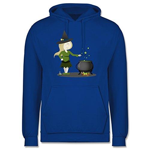 Halloween - kleine Hexe - Männer Premium Kapuzenpullover / Hoodie Royalblau