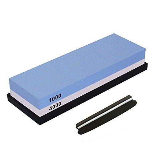 1000 Rf Kit (TOOGOO Schleifstein, Doppelseitiger Messer Sch?rf Stein Set K?rnung 2000/5000 Messer Sch?rfer Kombination Wasserstein Kits Mit Rutschfester Silikon Basis (1000 # / 4000 #))