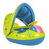 Qucce Enfants Bébé Siège De Piscine Bouée Siège Gonflable Anneau de Natation de Bébé avec Parasol pour 6-36 Mois Enfants en Bas Âge