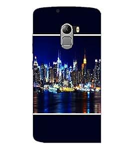 PrintDhaba Lighting City D-1394 Back Case Cover for LENOVO VIBE X3 LITE (Multi-Coloured)