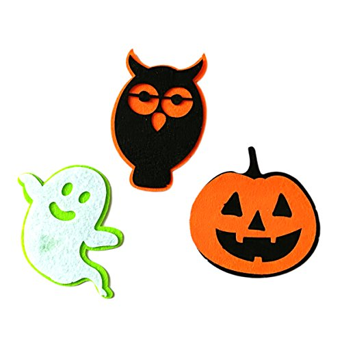 BESTOYARD 3pcs Halloween Stickerei Patch Kostüm Abzeichen für DIY Cosplay (Für Diy Blumen-kostüm Halloween)