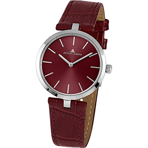 Jacques Lemans Women's Milano 34mm Brown Leather Band Quartz Watch 1-2024D
