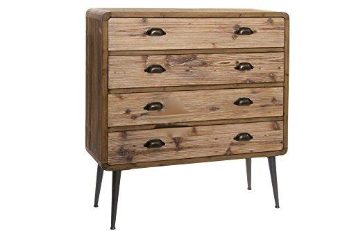 Comoda cajones en madera y hierro estilo industrial, vintage, nórdica.