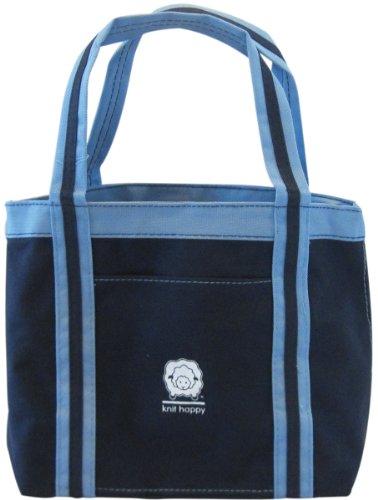 k1 C2 Mélange de polyester tricot Happy prendre le long sac 31,7 cm x 12,7 cm, bleu