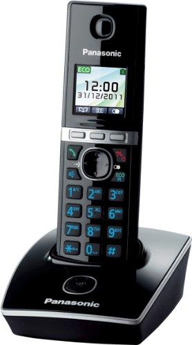 Panasonic KX-TG8051GB, 200 entradas, TFT, 0.065000 M, Blanco, Negro, 90 x 48 x 122 mm