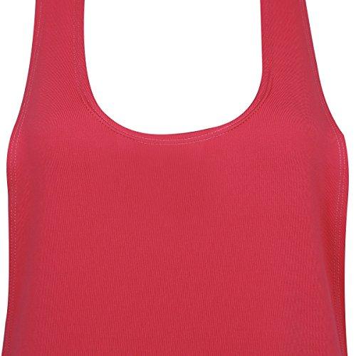 iEFiEL Débardeur Femme Sans manches Gilet en vrac Veste Gym Sport Training Course Pastèque rouge