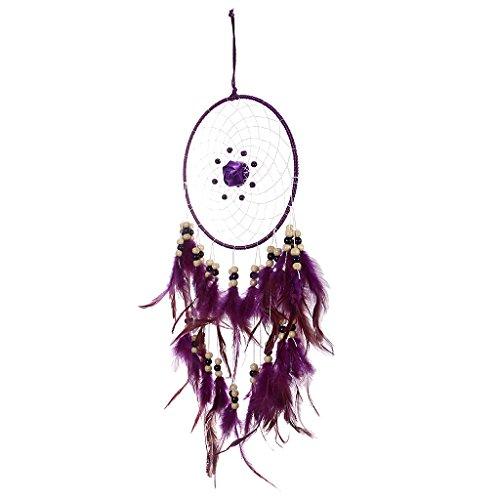 Adkwse Attrape-r/êves Grand Blanc faite /à la main pendentif pour voiture d/écoration de chambre