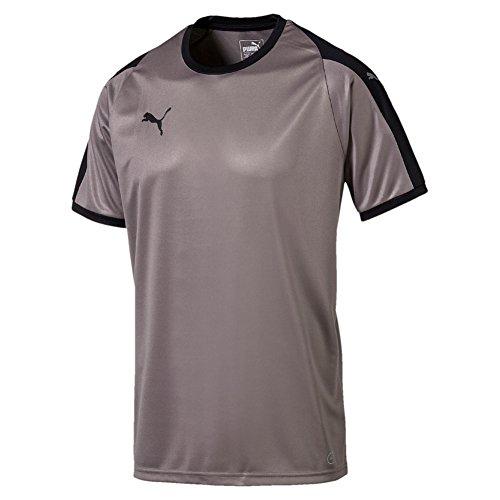 Puma Herren Liga Jersey T-Shirt, Steel Gray Black, M (Jersey Liga Fußball)