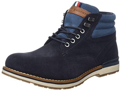 Tommy Hilfiger Herren R2285OVER 2BW Chukka Boots, Blau (Midnight), 43 EU