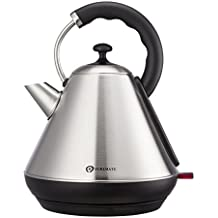 PureMate PM 1868 Stainless Steel Fast Boil Electric Pyramid Kettle 1.8 Litre 3000W