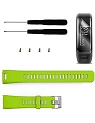 Garmin Vivosmart HR Band mit Display Schutz, TUSITA® Ersatz Soft Silikon Bracelet Sport Strap Armband WristBand Zubehör mit Schraubendreher für Garmin Vivosmart HR