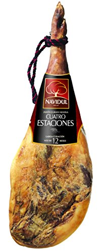 Navidul - Jamón Reserva Cuatro Estaciones + Jamonero + Cuchillo (7,2-8,2Kg)