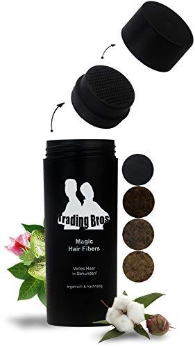XXL Premium Streuhaar Schütthaar Haarverdichtung Trading Bros Magic Hair Fibers Dunkelbraun 25g
