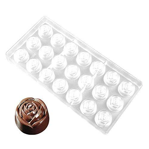 MTSZZF Chocolate Candy Mold Transparente 3D DIY Rose