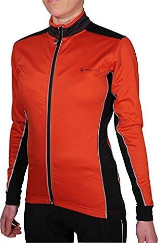 More Mile Piu Miglia Bari Rouge Coque souple pour femme Fermeture Éclair intégrale Cycle Veste de cyclisme pour femme pm2232 multicolore Rouge/Noir 8