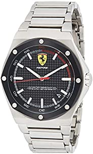 Scuderia Ferrari Men's Black Dial Stainless Steel Watch - 83