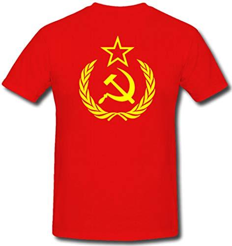 Sowjet Hammer und Sichel - T Shirt #104, Farbe:Rot, Größe:Herren S