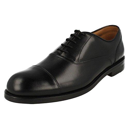 Chaussures Larges Formelle Clarks Coling Patron Homme Noir