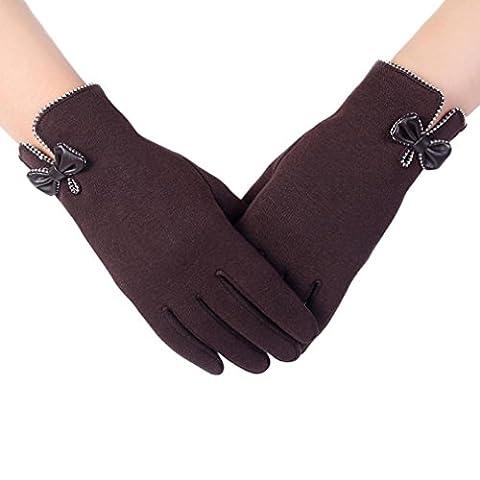 Gants, Kolylong Femme Automne-hiver 16 Touchez l'écran de laine Chauds