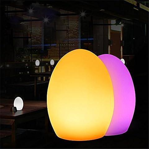 XIAOMINZI Lampada Da Tavolo Led Di Ricarica Creative Telecomando Colorato Lampada Decorativa Uovo - Camera Da Letto A Forma Di Goccia In Camera Impermeabile , Luci D10Xh15Cm