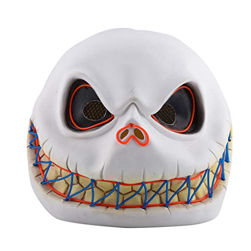 Lookhy Halloween Maske,Hai-Stil Maske Schmelzen Gesicht Erwachsene Latex Kostüm Halloween Beängstigend Led-Maske Halloween-Maske, Beleuchtet, Horror-Maske, Für Halloween, Party (Clown Hai Kostüm)