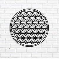 Yaşam Çiçeği - Flower of Life Metal Duvar Dekoru-Metal Tablo-Duvar dekorasyonu