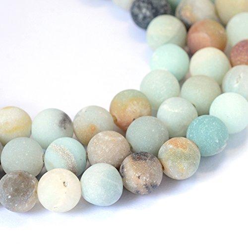 nbeads Strähnen, rund, Perlen für Schmuckherstellung, 8–8,5mm, Loch: 1mm Mix Color Amazonite