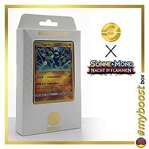 Zygarde 100/147 Holo Reverse - #myboost X Sonne & Mond 3 Nacht in Flammen - Box de 10 Cartas Pokémon Aleman