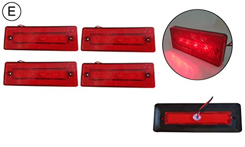 4 X 4 SMD LED 24V Rot Umrißleuchte Begrenzungsleuchte LKW PKW Schlepper Traktor