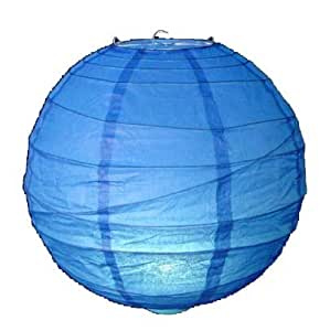 1 x 12 quot 30 cm bleu suspension abat jour rond en papier de riz fr bricolage