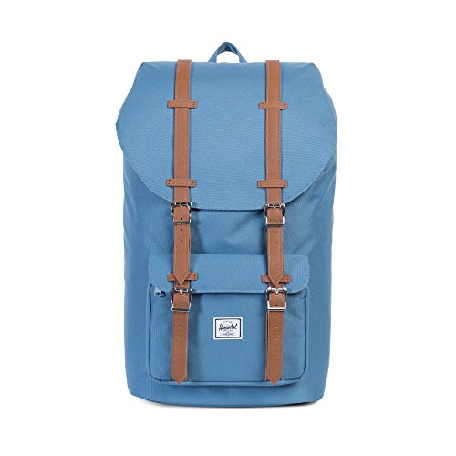 Little America Backpack captains blue/tan synthetic leather