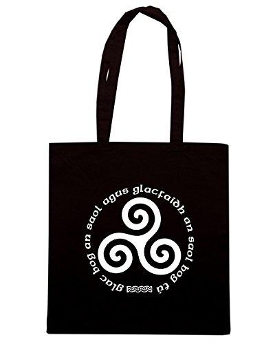 T-Shirtshock - Borsa Shopping T0117 TRISKELL religioni celtic Nero