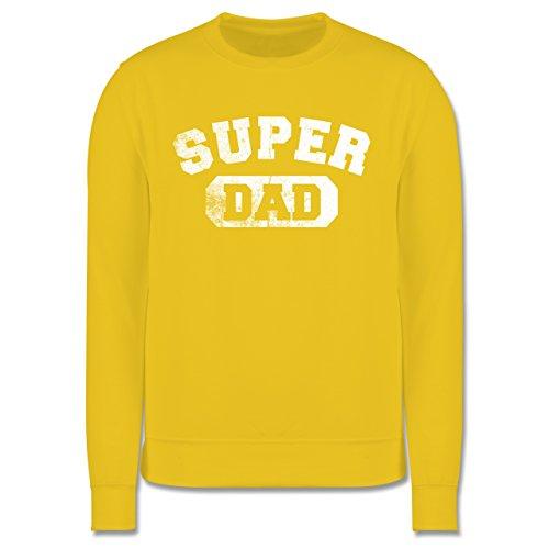 Vatertag - Super Dad - Vintage-&Collegestil - Herren Premium Pullover Gelb